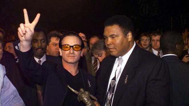 Bono and Muhammed Ali at the BRIT Awards, 2000