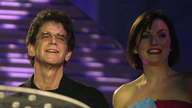 Lou Reed and Davina McCall at the BRIT Awards 2000