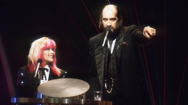 Mick Fleetwood and Sam Fox at the BRIT Awards, 1989