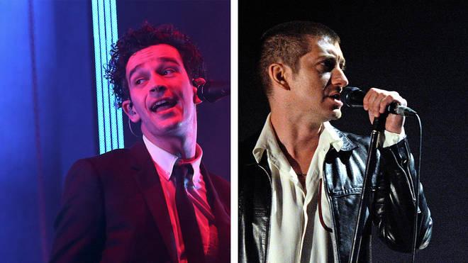 The 1975 Matty Healy and Arctic Monkeys Alex Turner
