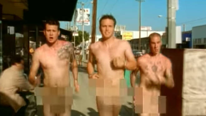 Blink 182 in the official video for their 1999 single What's My Age Again?