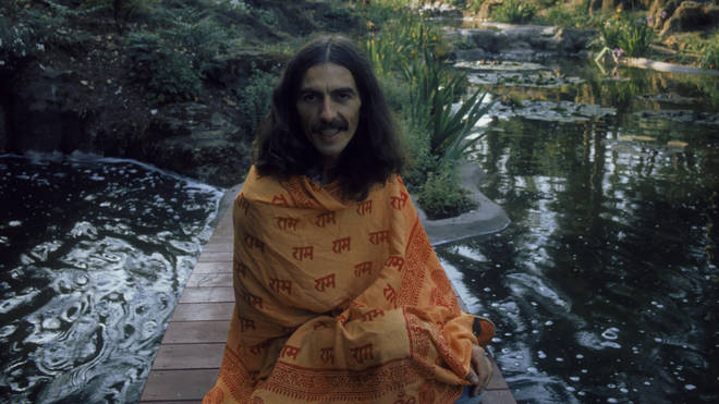 George Harrison at his home in Oxfordshire, 1975