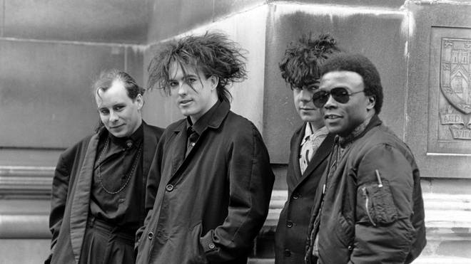 The Cure in 1984: Porl Thompson, Robert Smith, Lol Tolhurst and Andy Anderson
