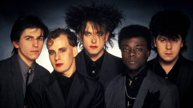 The Cure in 1984: Phil Thornally, Porl Thompson, Robert Smith, Andy Anderson and Lol Tolhurst