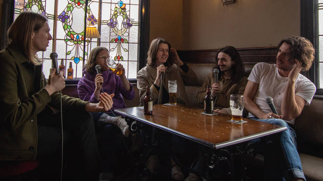 Blossoms launch a Pubcast in the Stockport pub they named themselves after