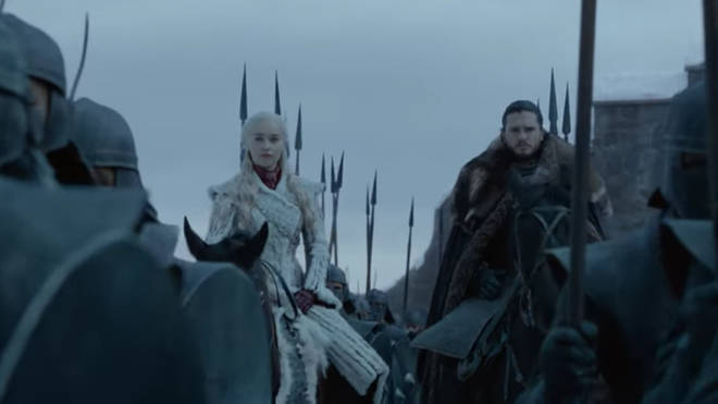 Emily Clarke and Kit Harington star as Khaleesi and John Snow in the first full teaser trailer for Game Of Thrones Season 8