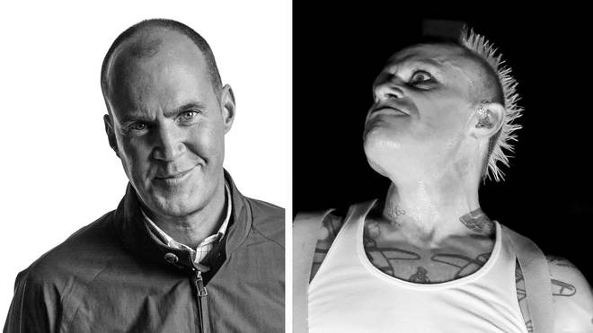 Johnny Vaughan and the late Prodigy frontman Keith Flint