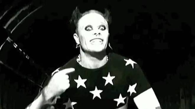 Keith Flint in The Prodigy's Firestarter video