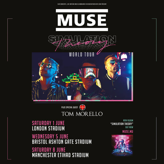 Tom Morello to support Muse on Simulation Theory stadium dates