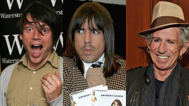 Alex James, Anthony Kiedis and Keith Richards
