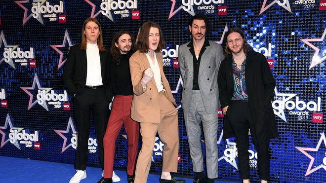Blossoms on the Global Awards 2019 blue carpet