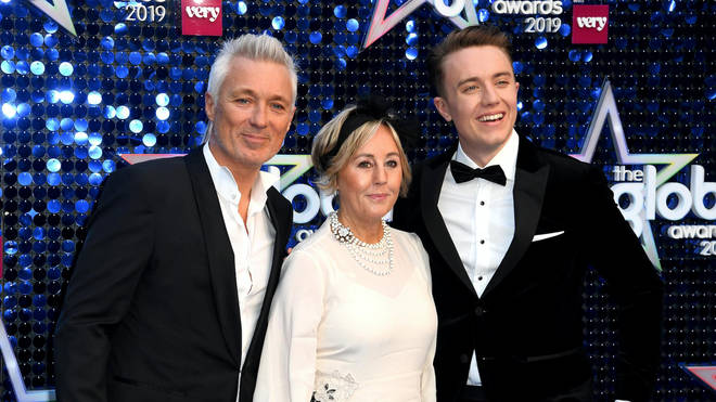 Martin, Shirlie and Roman Kemp arrive at the Global Awards 2019