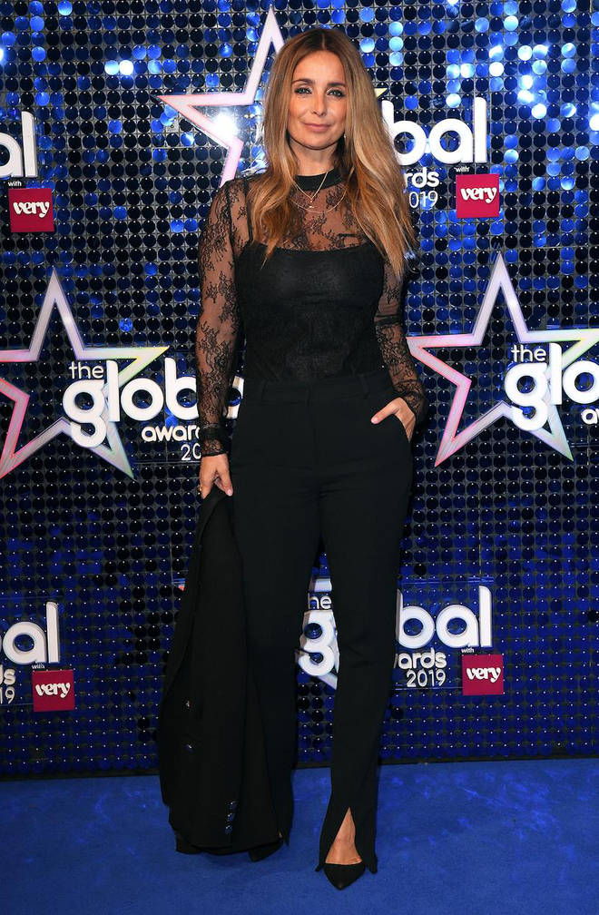 Louise Redknapp arrives at the Global Awards 2019