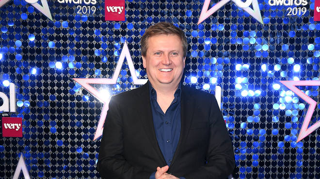 Aled Jones on the blue carpet at the Global Awards 2019