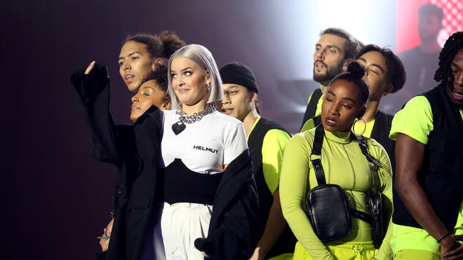 Anne-Marie performs on stage during The Global Awards 2019 with Very.co.uk held at London's Eventim Apollo Hammersmith
