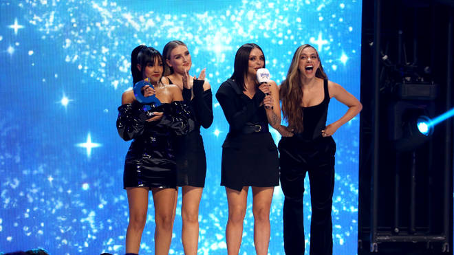 Little Mix onstage at the Global Awards 2019