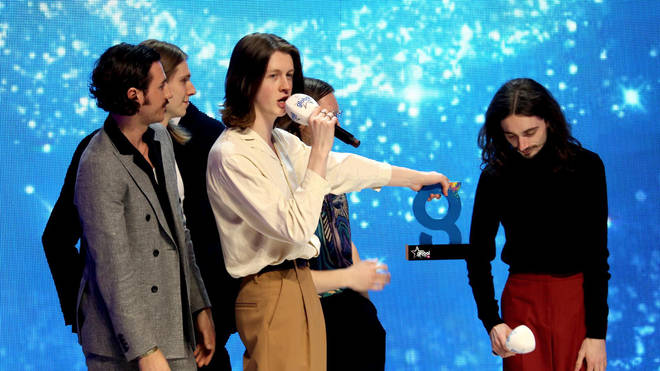 Blossoms accepting their award at The Global Awards 2019 with Very.co.uk