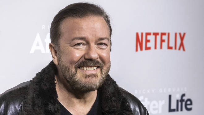 """Ricky Gervais attends a screening of Netflix's """"After Life"""" at the Paley Center for Media on Thursday, March 7, 2019"""