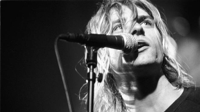 Kurt Cobain performing with Nirvana in Amsterdam, November 1991