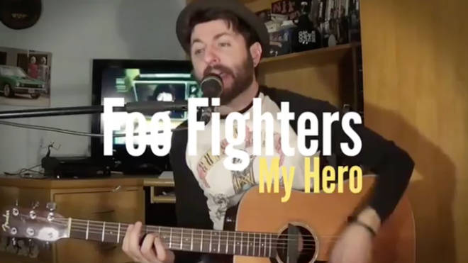 Brazlian musician covers Foo Fighters My Hero