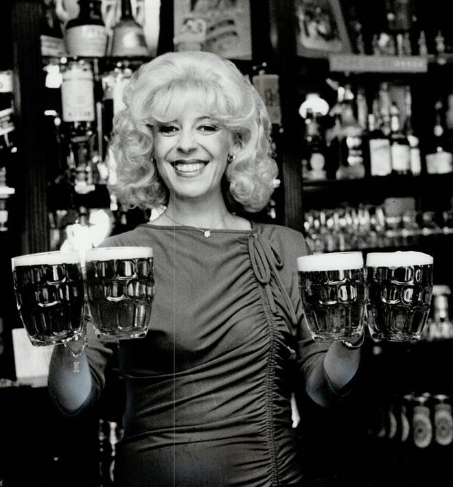 Julie Goodyear as Bet Lynch in Coronation Street, 1983