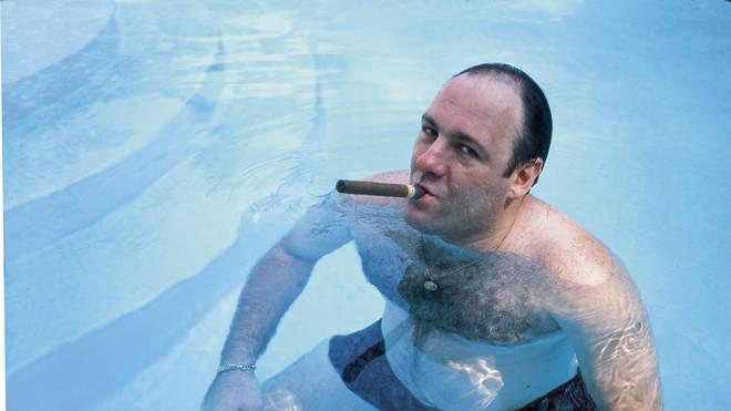 The late James Gandolfini as Tony Soprano in The Sopranos in 1999