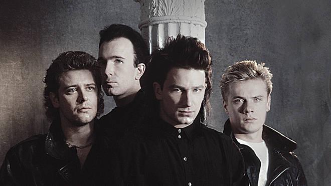 U2 in 1985: Adam Clayton, The Edge, Bono and Larry Mullen Jr