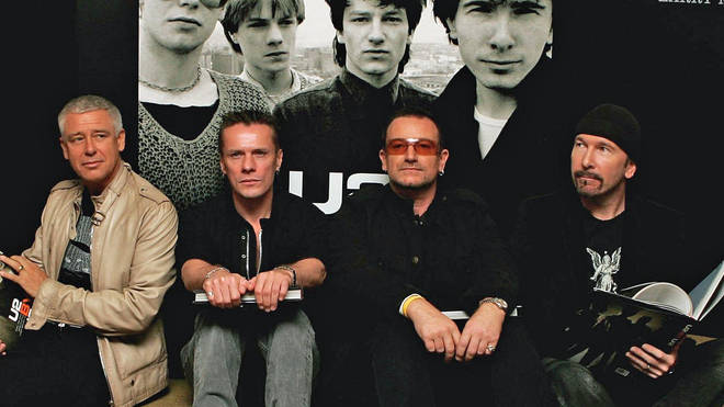 U2 at a book signing in London in 2006