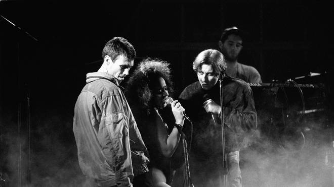 Happy Mondays' Bez, Rowetta and Shaun Ryder in 1991