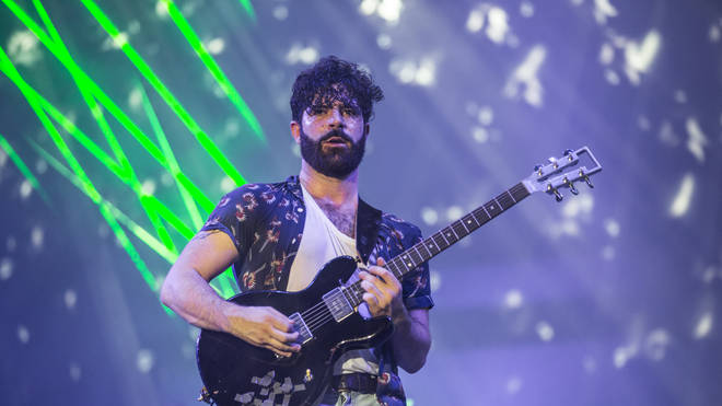 Foals frontman Yannis Philippakis at Benicassim 2017