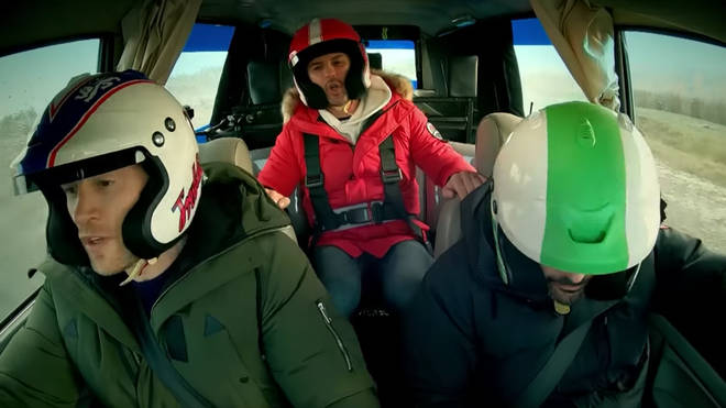 Freddie Flintoff, Paddy McGuinness and Chris Harris in Top Gear Series 27