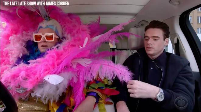 Rocketman's Taron Egerton and Richard Madden do Carpool Karaoke on The Late Late Show with James Corden