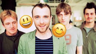 Travis in 2001: Douglas Payne, Fran Healy, Andy Dunlop and Neil Primrose