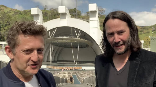 Alex Winter and Keanu Reeves take to th eHollywood Bowl to announce Bill & Ted 3: Face The Music
