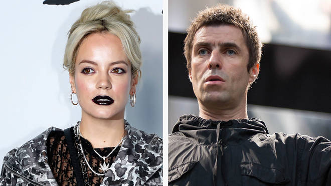 Lily Allen and Liam Gallagher