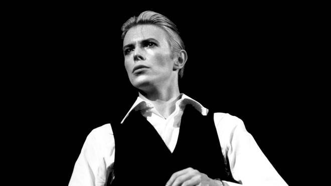 Los Angeles, CA, USA British pop singer David Bowie is shown in concert as his alter ego The Thin White Duke in 1977