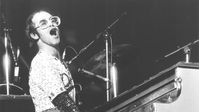 Elton John performs in 1970