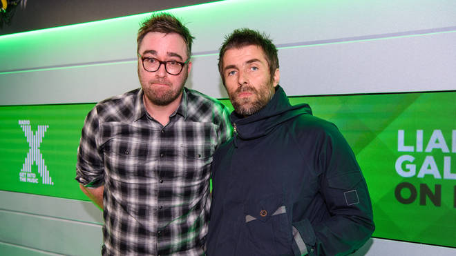 Danny Wallace and Liam Gallagher