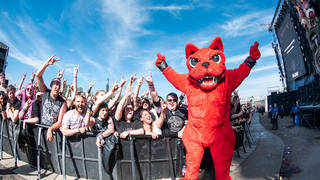 The Download Festival 2018 stage with the Download Dog