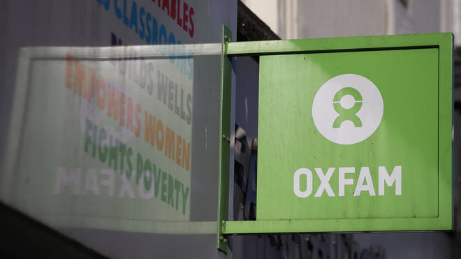 An Oxfam shop sign in London