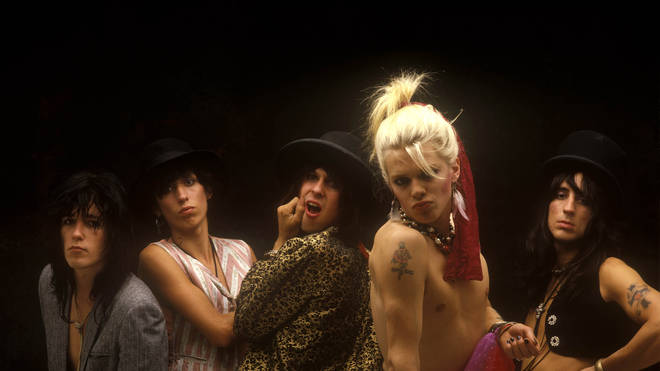 80s Finnish glam rock band Hanoi Rocks with Nasty Suicide, Sami Yaffa, Andy McCoy, Mike Monroe and Razzle