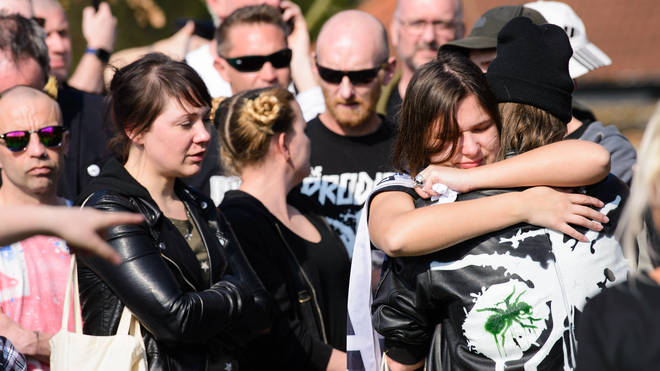Keith Flint funeral procession