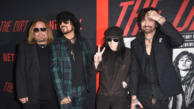Mötley Crüe at the premiere of Netflix's The Dirt