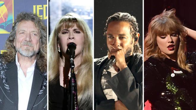 Robert Plant, Stevie Nicks, Kendrick Lamar, Taylor Swift