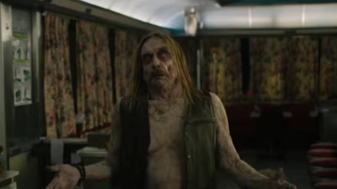 Iggy Pop in the trailer for 2019's The Dead Don't Die starring Adam Driver and Bill Murray