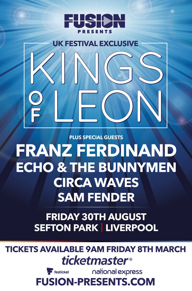 Fusion Presents Kings Of Leon poster