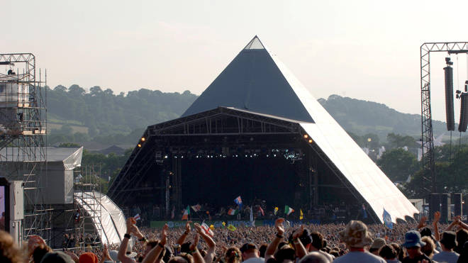 The Pyramid Stage at Glastonbury in 2005