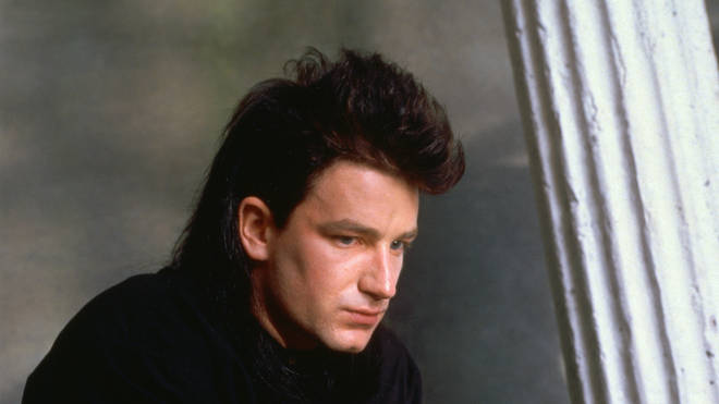 U2 frontman Bono in the late 1980s
