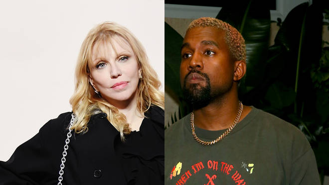 Hole frontwoman Courtney Love and Kanye West