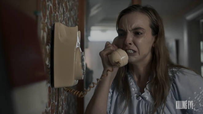 Jodie Comer as Villanelle in a Killing Eve teaser trailer